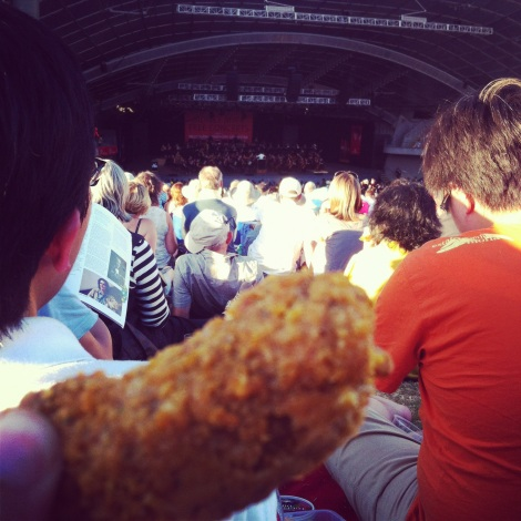 The best concerts are the ones I get to eat chicken wings at.