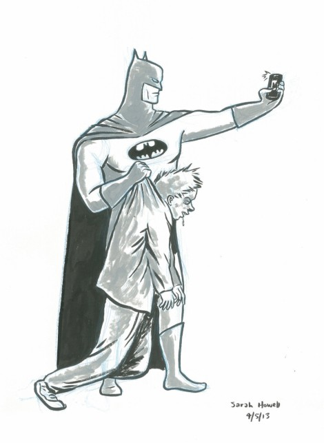 Batman Selfie - Sarah Howell