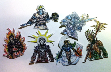 DnD Papercraft Characters 01