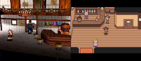 The N64 work-in-progress vs the final GBA art style