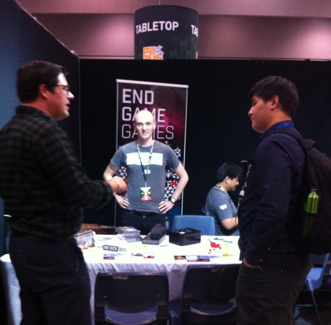 Meeting at the EndGameGames Booth