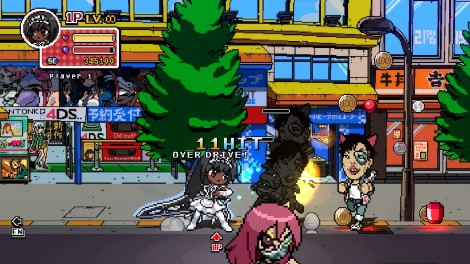 Battle Grounds' spoof of Akihabara, complete with fake parody advertising and otaku wearing cat ears