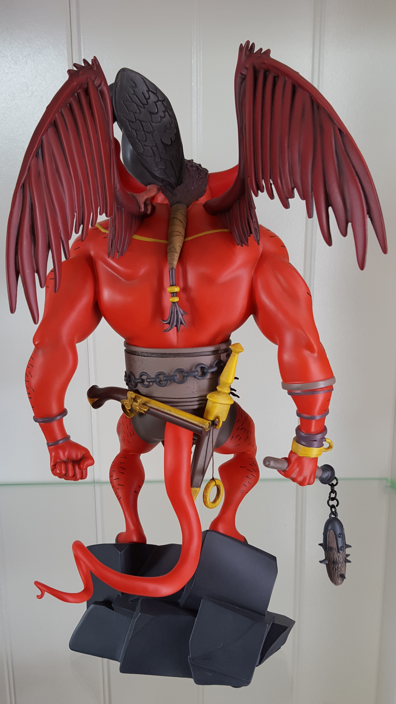 geeky shit  the first hellboy  statue by mondo